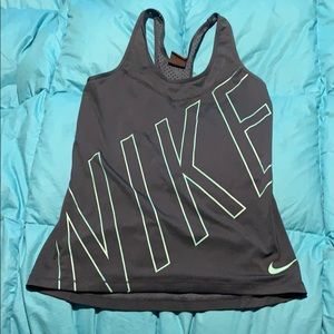 Nike dark blue tank top with mesh details